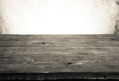 Old tabletop and background from a sacking. horizontal picture.  royalty free stock photo