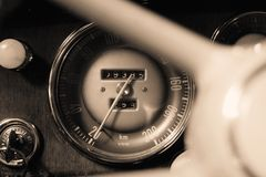 Old Tachometer Royalty Free Stock Images