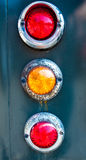 The old tail lights of antique car. The old tail lights of old antique car stock image