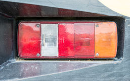 Old taillight. Of the industrial truck royalty free stock photo