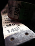 Old tailor seamstress cloth ruler Royalty Free Stock Images