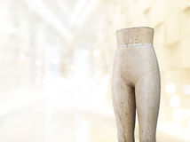 Old Tailors dummy, Mannequins vintage in showroom, Vintage and pastel color tone Royalty Free Stock Images