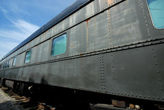 Old Tain Carriage. Image taken of an old train carriage resting at French Lick train station stock photo