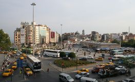 Old Taksim Square. Taksim Square, Year 2008, Istanbul, Turkey Royalty Free Stock Image