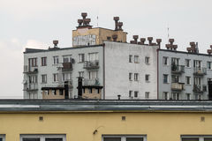 Old tall residential building. Poland Royalty Free Stock Photos