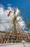 Old tall sailing boat royalty free stock photos