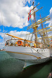 Old tall sailing boat Stock Image