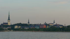 The old Tallin view of Estonia from the sea scape view GH4 4K stock video footage