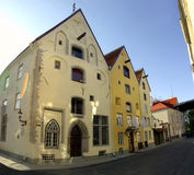 Old Tallinn. Three houses joint together, called Three Sisters (located in Tallinn Royalty Free Stock Photos