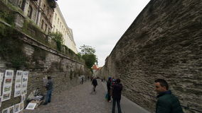 Old Tallinn. Architecture, old houses, streets and neighborhoods. Estonia. stock footage
