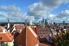 Old Tallinn. Beautiful view from an observation deck Stock Photo
