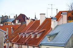 Old Tallinn city roofs Royalty Free Stock Images
