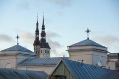 Old Tallinn city roofs Royalty Free Stock Photo