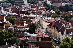 Old Tallinn cityscape Stock Images