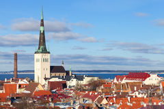 Old Tallinn cityscape panorama Royalty Free Stock Photography