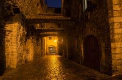 Old Tallinn in the night Stock Image