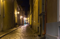 Old Tallinn in the night Stock Photos