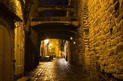 Old Tallinn in the night Stock Images
