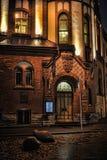 Old Tallinn at night Stock Photo