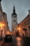Old Tallinn at night Royalty Free Stock Photo