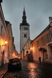 Old Tallinn at night Royalty Free Stock Photo