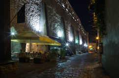 Old Tallinn in the night Royalty Free Stock Image