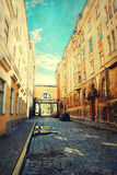 Old Tallinn street Royalty Free Stock Photography