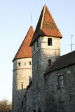 Old Tallinn, towers of the fortress Stock Image
