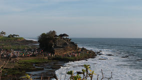 Old Tanah Lot Temple in Tabanan, Bali stock footage