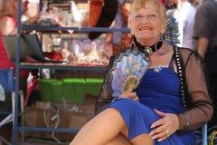 Old Tango Dancer in San Telmo. Royalty Free Stock Images