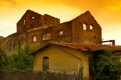 Old taninn factory in corsica Royalty Free Stock Photo