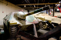Old Tank destroyer in Museum Stock Photography
