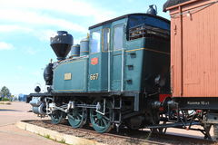 Old tank engine on a sunny day Stock Images