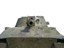 Tank. Old tank with a gun aimed ahead Royalty Free Stock Images