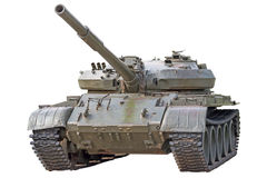 Old tank. Old soviet tank T-72 Ural - main battle tank production of the USSR Stock Photo