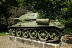 Free Old Tank T-54 In Front Of The Museum In Dukla Royalty Free Stock Images - 75975629
