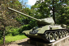 Free Old Tank T-54 In Front Of The Museum In Dukla Stock Photo - 75975630