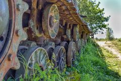 Old tank tracks Royalty Free Stock Images