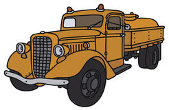 Old tank truck. Hand drawing of a classic tank truck - not a real model Stock Photo