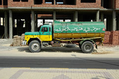 Old tank truck on Hurghada street Stock Images