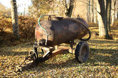 Old tank on wheels Royalty Free Stock Images