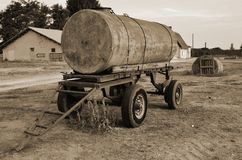 Old tanker trailer Stock Photos