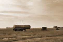Old tanker trailer Stock Photography