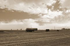 Old tanker trailer Royalty Free Stock Photo