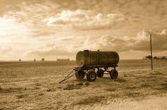Old tanker trailer Stock Image