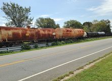 Old  tanker train cars Stock Images