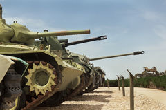 old tanks and armored vehicles Royalty Free Stock Images
