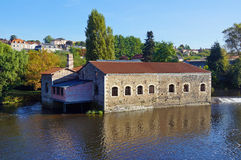 Old tannery along the Vienne River in France Stock Photos