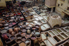 Old tannery in Fez, Morocco Royalty Free Stock Image