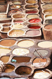 Old tannery of fez morroco Royalty Free Stock Photography